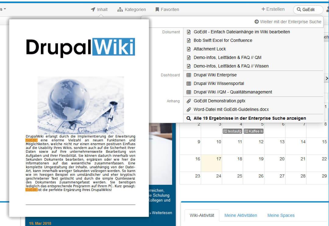 Drupal Wiki Erweiterung Office-Dokumentenvorschau