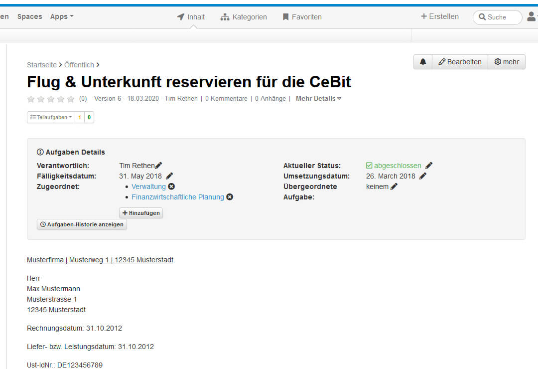 Drupal Wiki Erweiterung Aufgabenmanagement