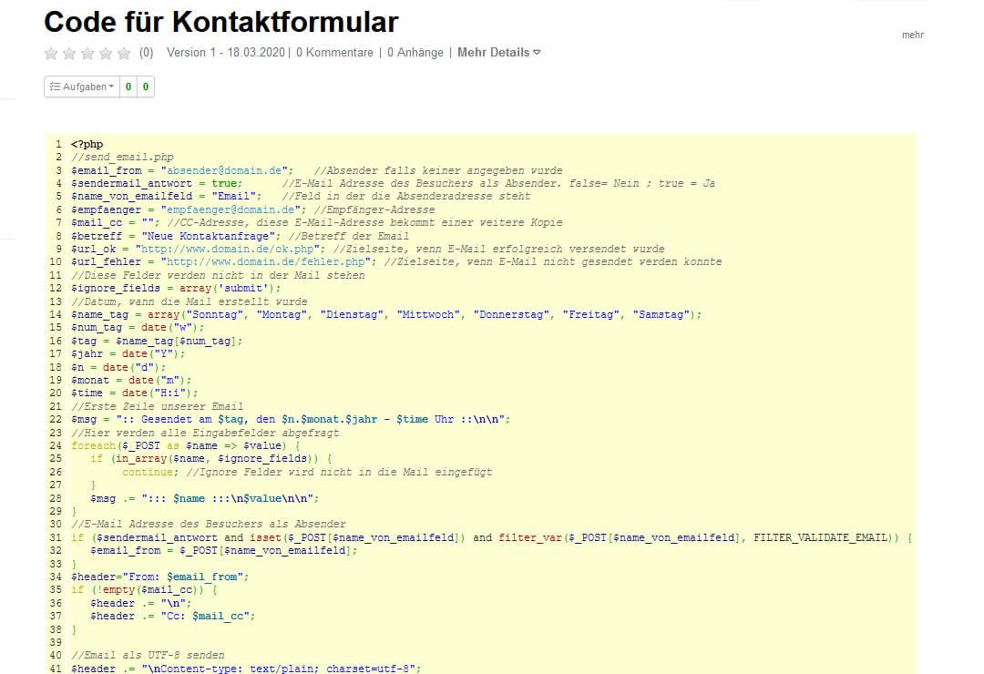 Drupal Wiki Erweiterung Code-Syntax Highlighter