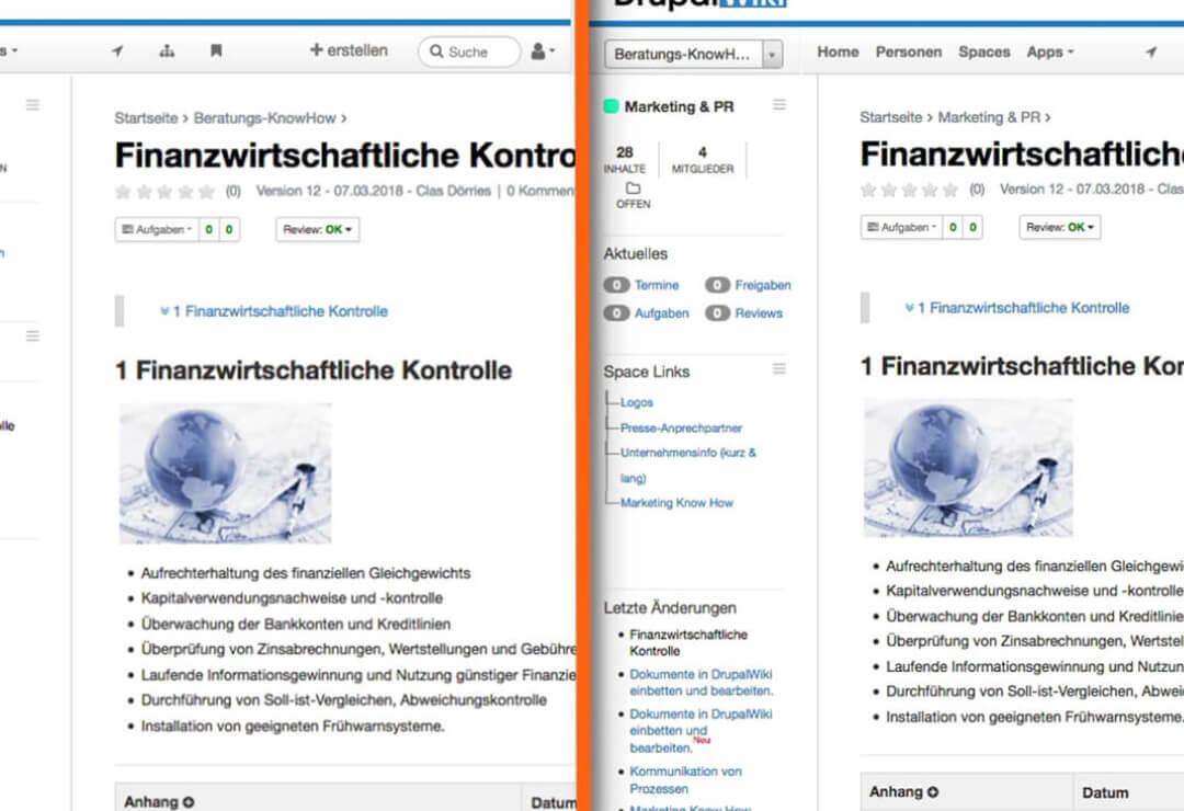 Drupal Wiki Erweiterung Dokumente Teilen