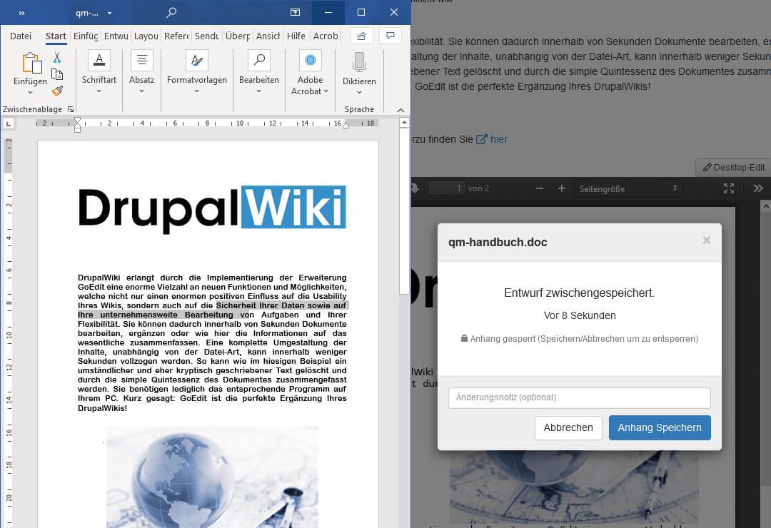 Drupal Wiki Erweiterung GoEdit
