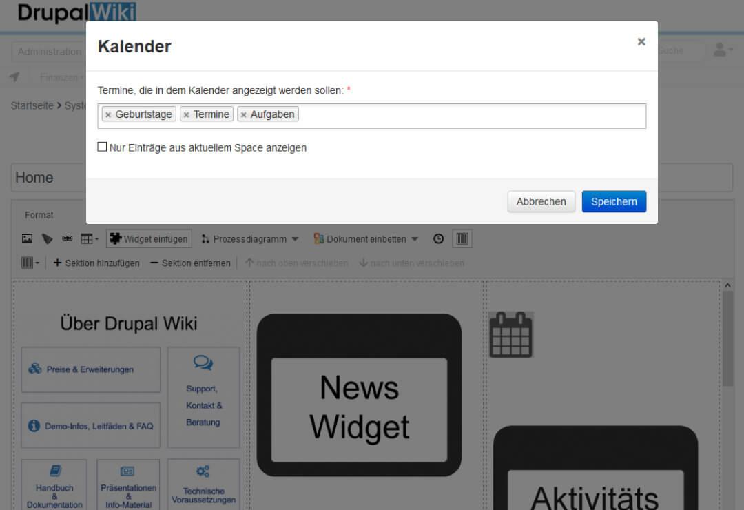 Drupal Wiki Erweiterung Kalender