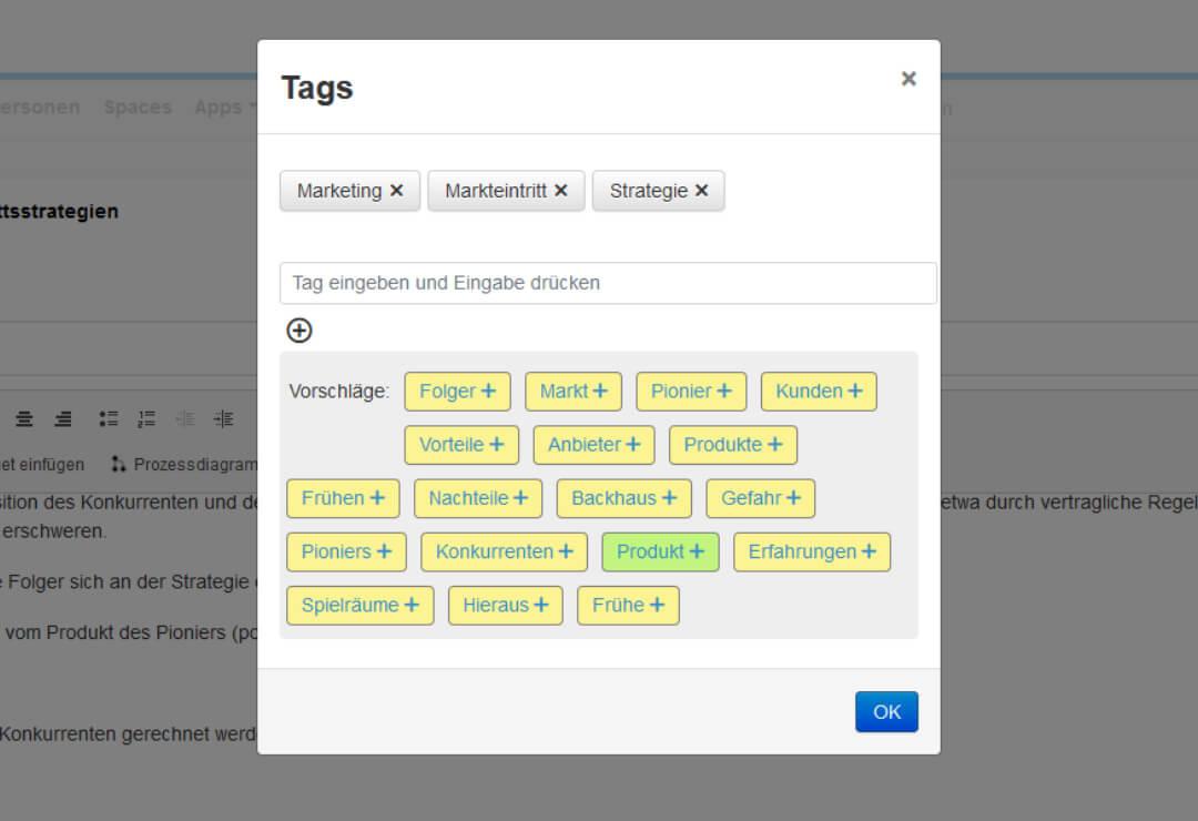 Drupal Wiki Erweiterung Tagging-Vorschläge
