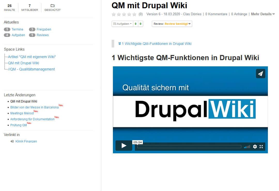 Drupal Wiki Erweiterung Vimeo-Videos